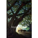 Hackney and Beautiful Rain Tree Painting