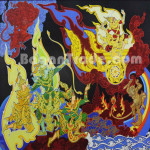 Historical Yamayana Play Paint by Hlaing One