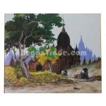 Twilight of Bagan Pagoda in Myanmar
