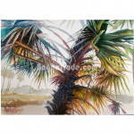 View of nature of palm tree at springtime