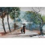 Life of poor Vendor Women Painting