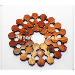 Base wooden Plate attach with string round shape