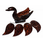 Small wooden base plate set with Duck Design