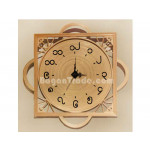 Handmade Bamboo Clock with Design