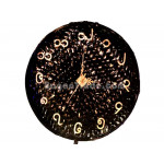 Handmade Bamboo Clock with Black Color