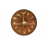 Handmade Bamboo Clock with Brown Color