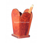 Hand-craft Rosewood Pencil Cup