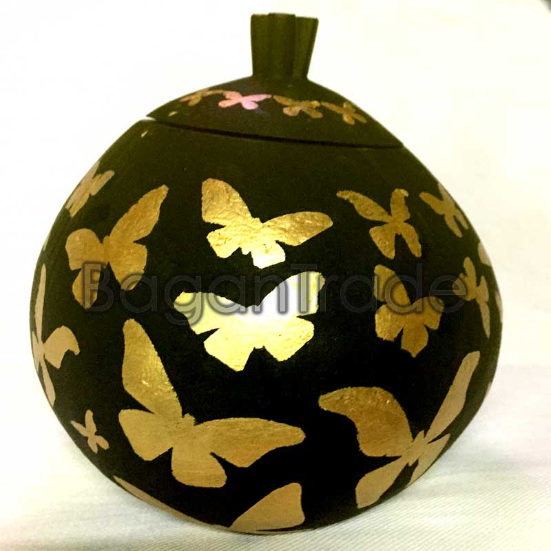 Butterfly Design Handmade Coconut Shell Craft