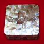 Mother of Pearl Jewellery Box with Brown Color