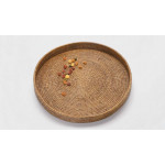 Rattan Round serving tray from Myanmar