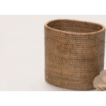 Myanmar Handmade Oval waste basket made by Rattan