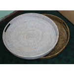 Large Round Tray With Handle
