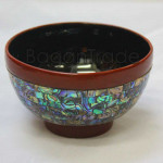 Handmade Lacquered Serving Bowl decorate with  Sea