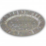 Seashell Oval Shape Plate made by Mother of Pearl