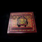Square Box Lacquer Ware Handmade from Myanmar