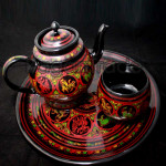 Myanmar lacquer Tea set by hand