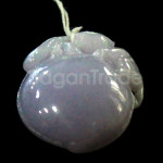 Lavender Jade carving Animal climbed on Fruit pend