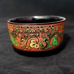The Arabesque Design Lacquer ware Green Tea Cup