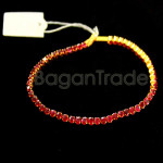 Ruby facted with gold Bracelet