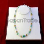 65beads Colorful Jade Necklace