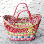 The colorful Cane basket in Myanmar