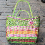 The Green color beautifully Cane Basket