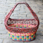The Colorful nest design Cane Basket
