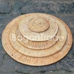 Round Cane Coaster Set in Myanmar