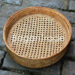Round shape Cane Tray in Myanmar