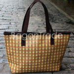 Hand woven Cane Mat with Thread Handbag