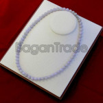 Beautiful Color of Lavender Jade Bead Necklace Mad