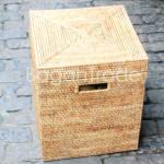 Square Style Wicker Storage Cane Box