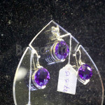 Only one Amethyst gemstone Pendant and Earring set