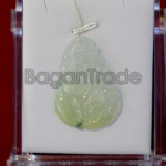 Jade Ginseng Flower Pendant from Myanmar