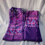 One Set design Purple Color of Shan Traditional Dr
