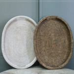 Oval Tray With Handle