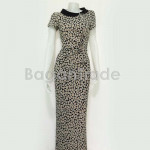 Black Column of Short Sleeved Myanmar Dress