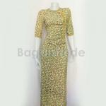 One Set Yellow Color Design of Myanmar Dress