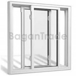 Two Panels UPVC Horizontal Sliding Door