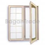 UPVC Window Double Leaf Double Swing Window
