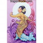 Myanmar Lady dancing Traditional Dance