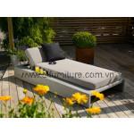 Poly Rattan Lounge Chair