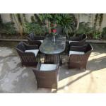 Poly Rattan furniture dining set