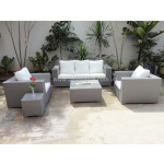 Poly rattan 5pcs/set sofa