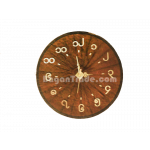 Brown color handmade Bamboo clock in Myanmar