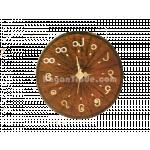 Brown color handmade Bamboo clock in Myanmar