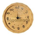 Beautiful design Bamboo clock in Myanmar