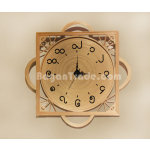 Simple design handmade Bamboo clock in Myanmar