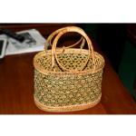 Green Color Design of Cane Basket