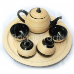 Beautiful Handmade Bamboo Tea pot made in Myanmar